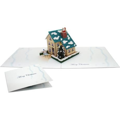 Pop Up Card Christmas House Christmas Craft Cards Card Canon Creative Park Pop Up Cards Free Christmas Printables Christmas Card Crafts