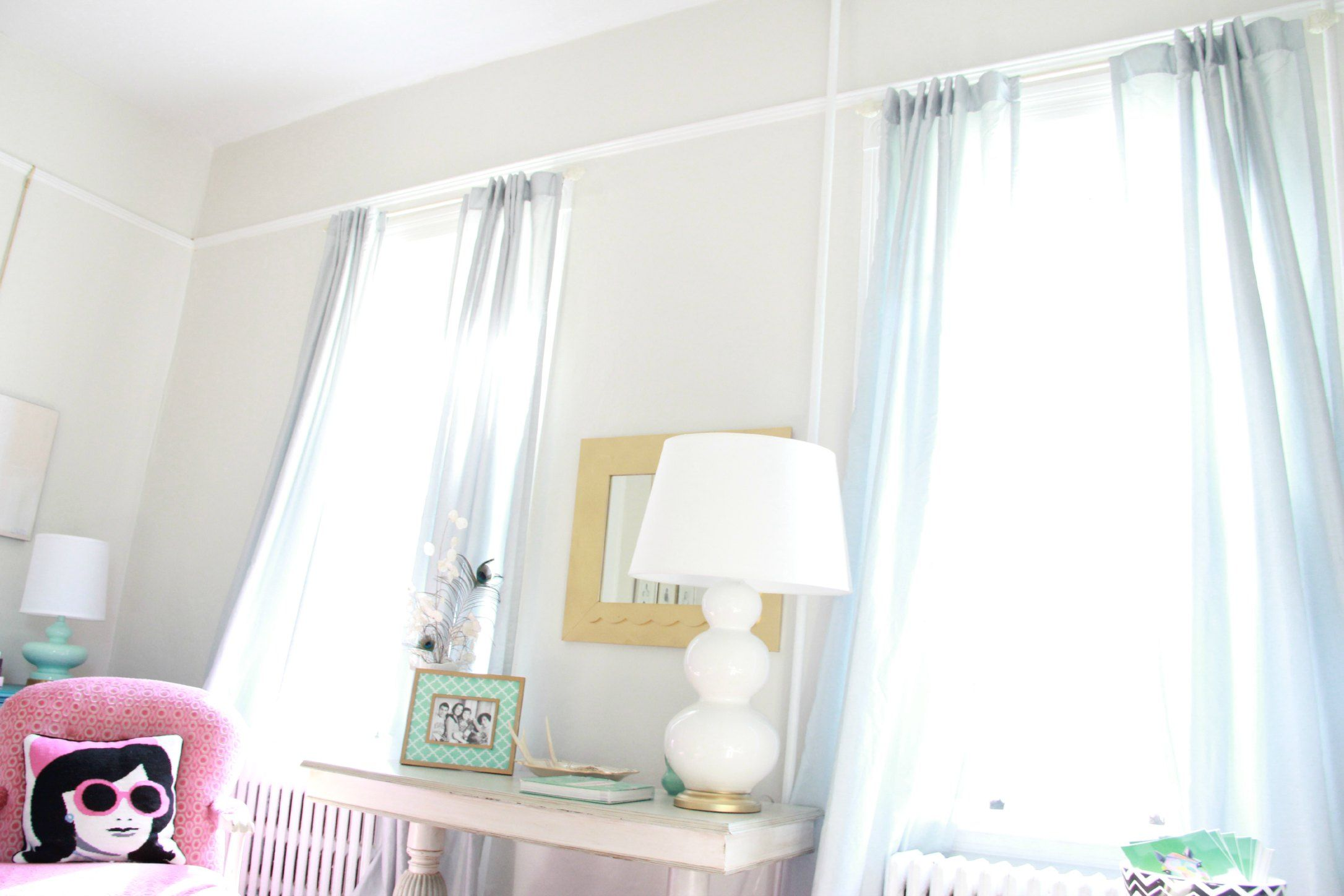 These Curtains Are The Martha Stewart Faux Silk In Rainwater From