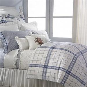Ralph Lauren Cottage Hill Blueplaid Queen Comforter Set