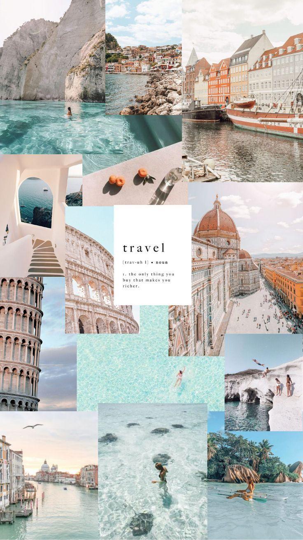 Fun travel phone wallpaper collage, travel vibes, greece, denmark, israel… | Wallpaper tumblr lockscreen, Iphone wallpaper travel, Iphone wallpaper tumblr aesthetic