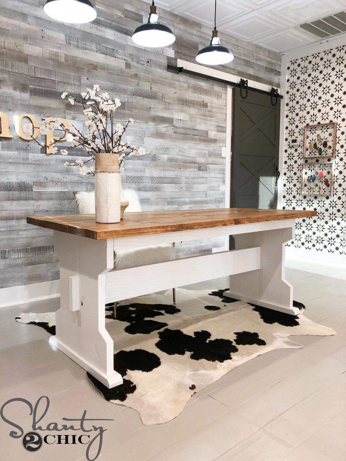 Build this DIY Farmhouse Dining Table for only 65 in