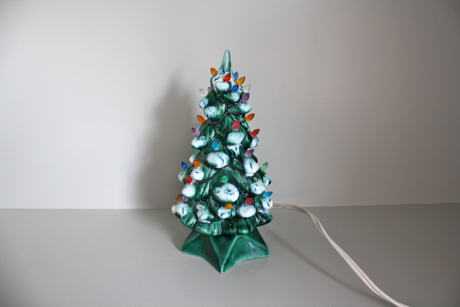 Small 7 Inch Ceramic Light Up Christmas Tree