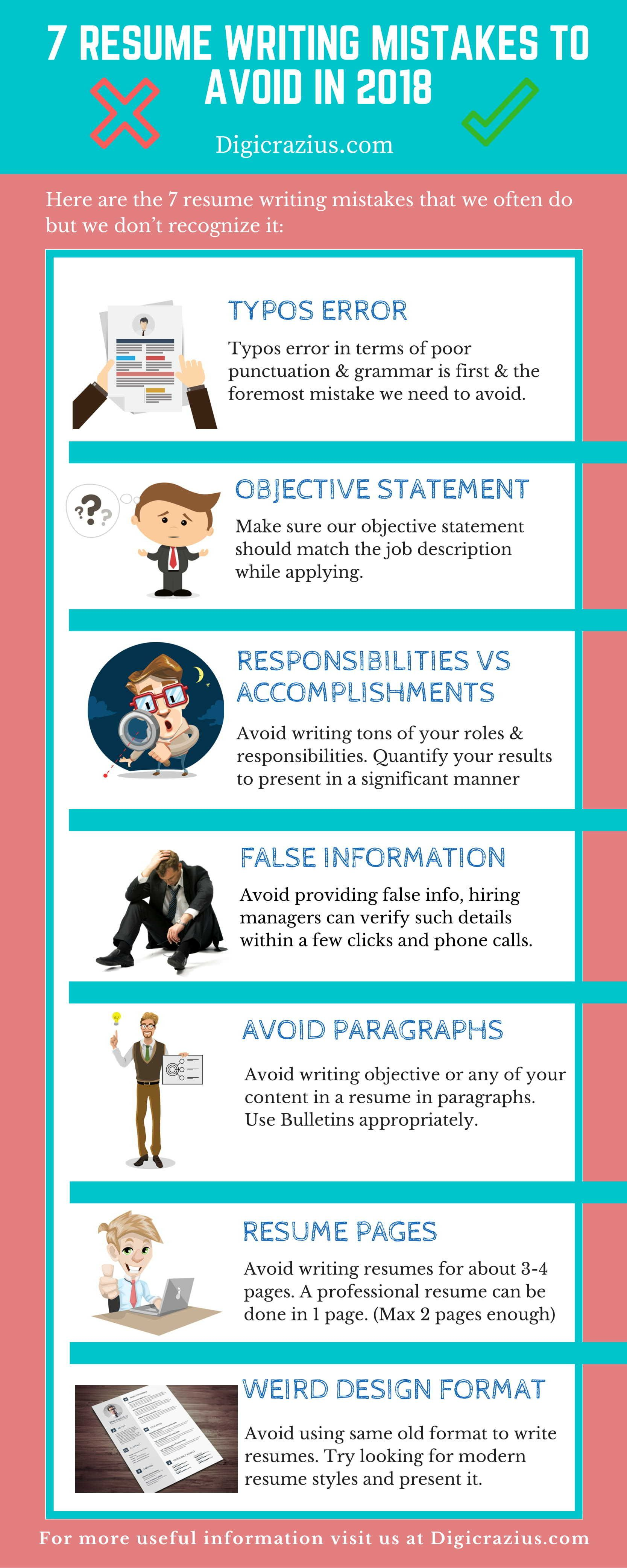7 resume writing mistakes to avoid in 2018 resume