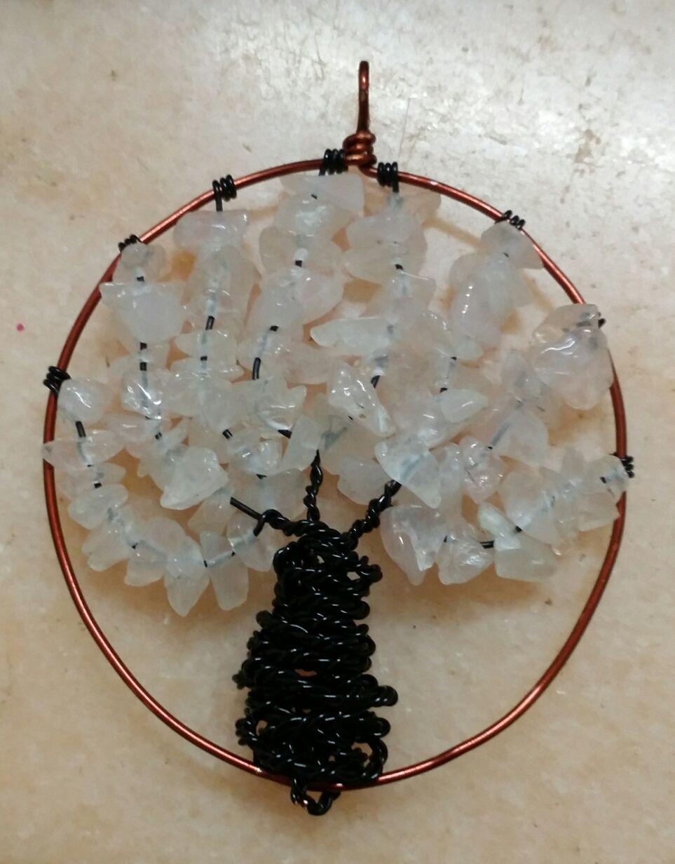 Tree of Life with rose quartz.