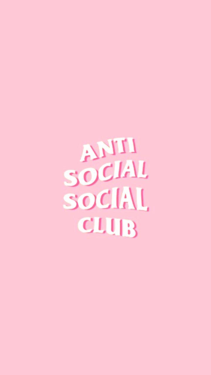 Anti social social club | Anti social, Pink wallpaper ...