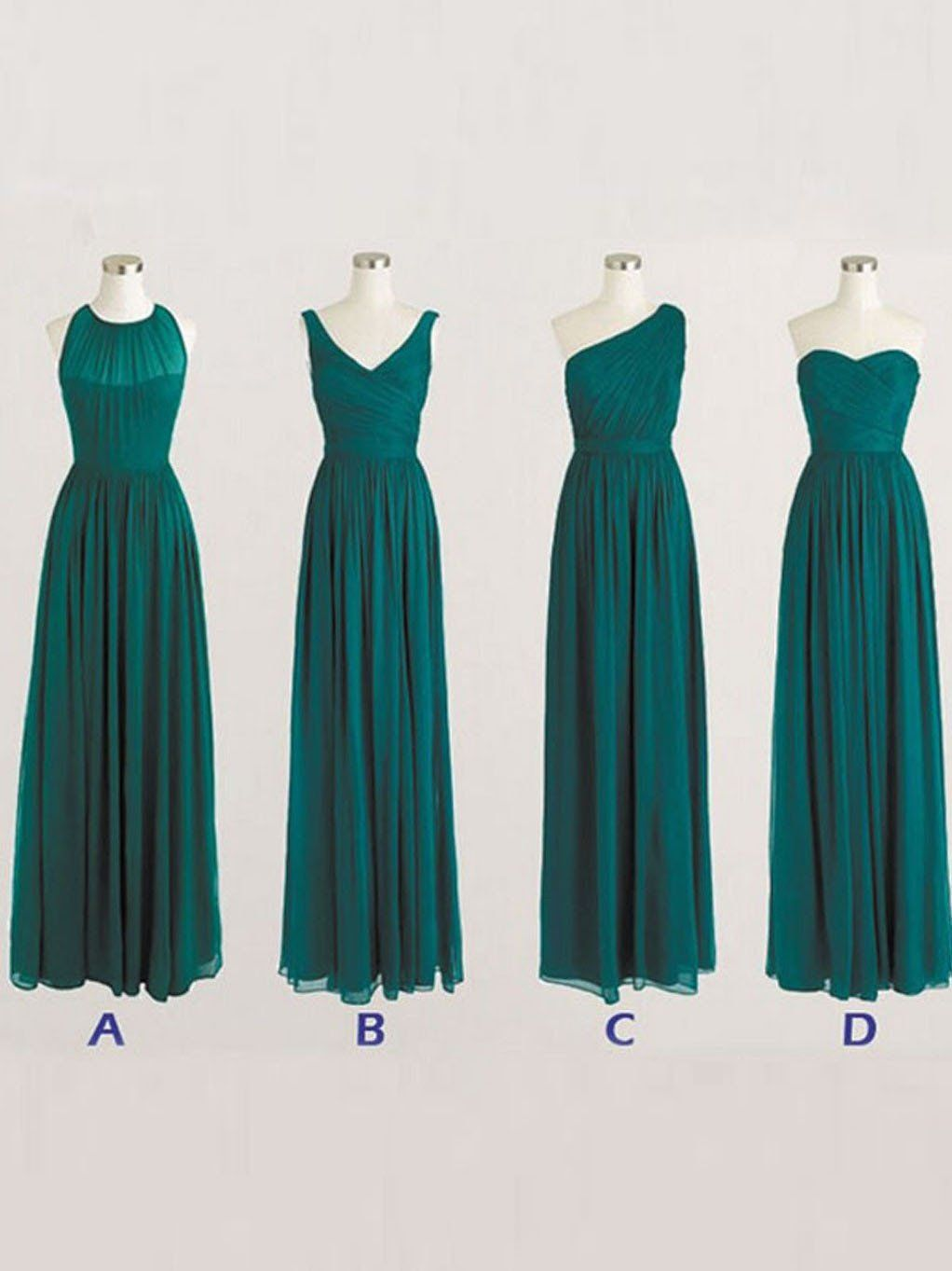 Bridesmaid dresses simple long dark green bridesmaid dressesfloor