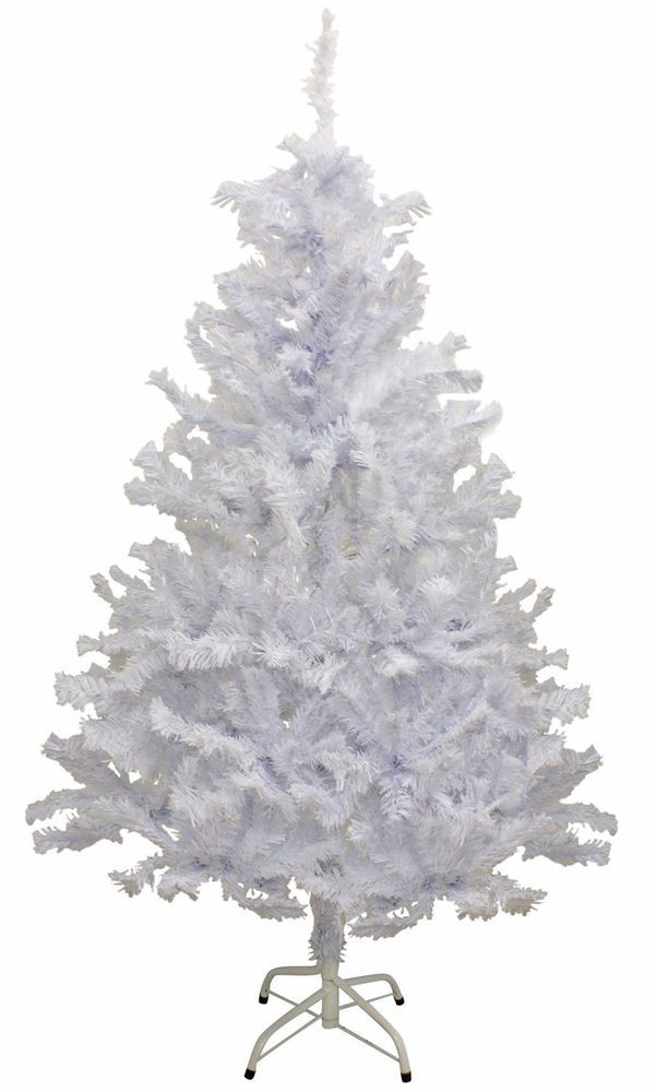 Charming 5 Ft White Christmas Tree 5 Ft Artificial Snow Christmas Tree Indoor Free  Pu0026P UK #