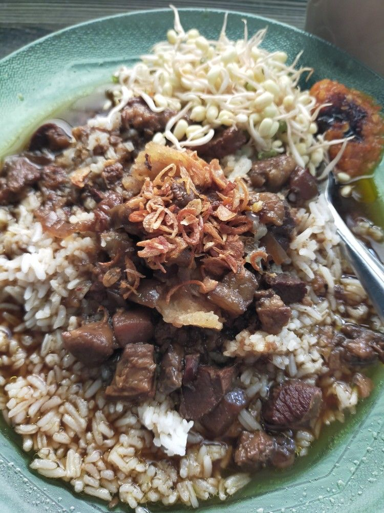 Nasi Rawon Daging Indonesian East Java Traditional Meal Asian Food Daging Nasi Terasi