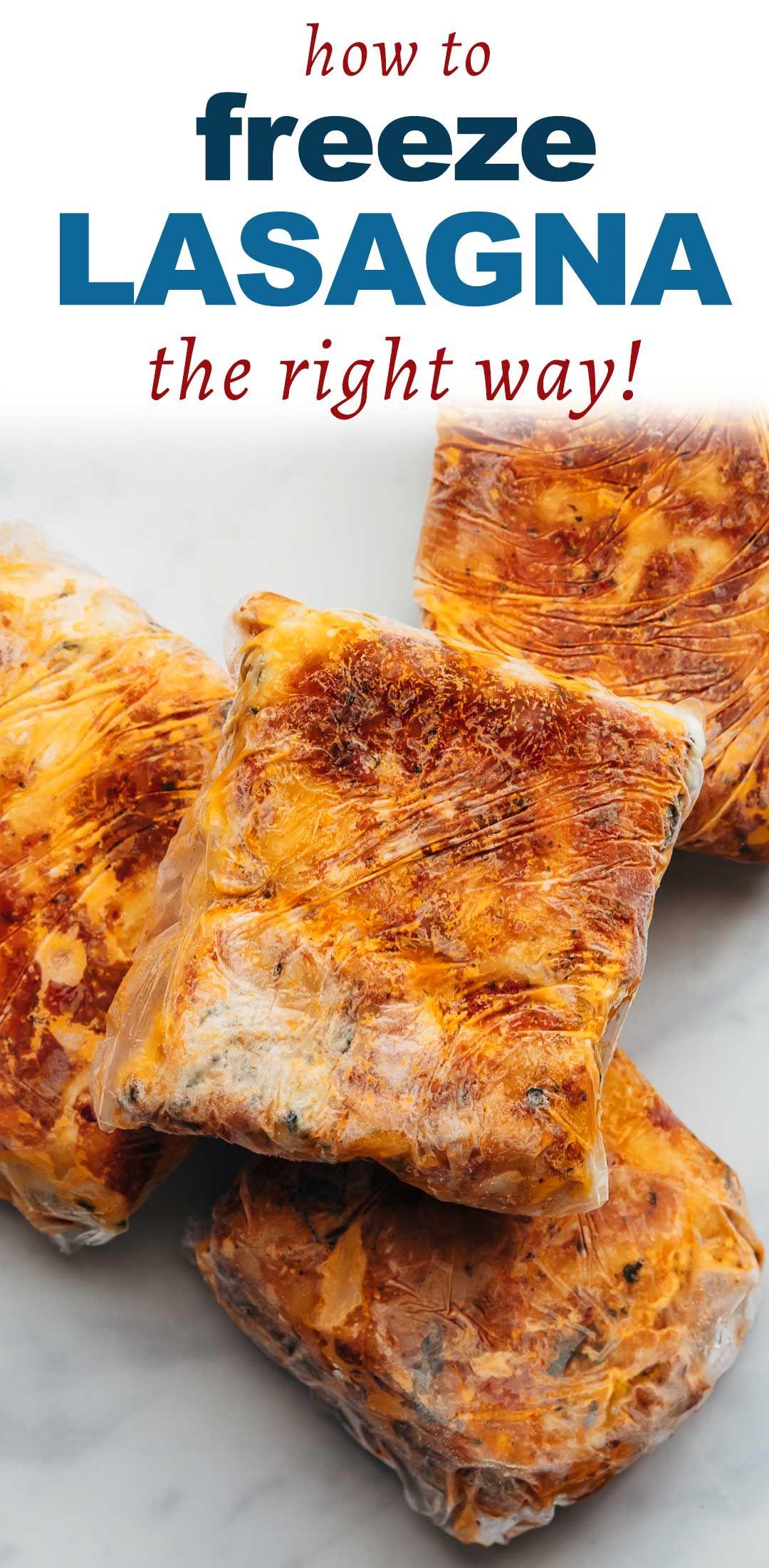 How To Freeze Lasagna And Reheat It Frozen Lasagna Slow Cooker Balsamic Chicken Frozen Meals