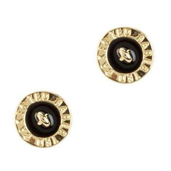 e062c4f40bd451 Ted Baker Tempany Signature Button Stud Earrings  VonMaur  TedBaker  Gold   Black  Circle  Button  StyleCorner