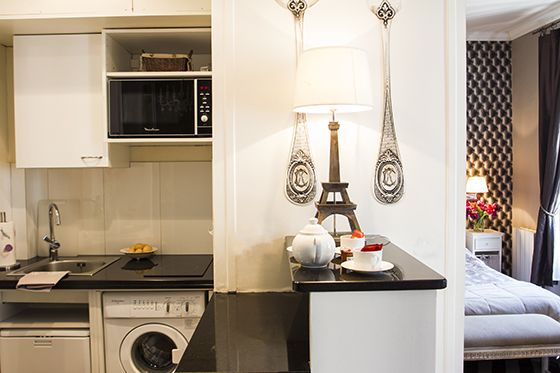 Paris Studio Apartment Washing Machine | Tiny Houses Tiny Spaces ...