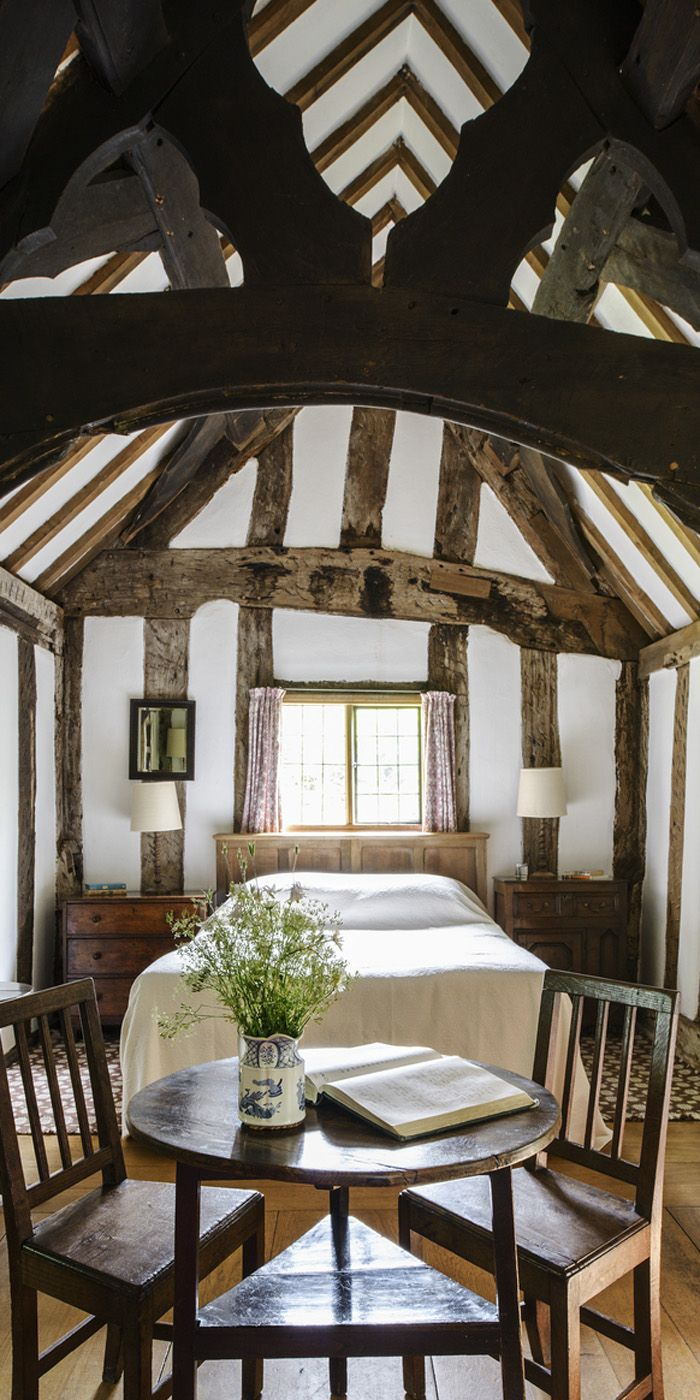 Principal bedroom in an historic home with an interior inspired by - Oak Framed Buildings