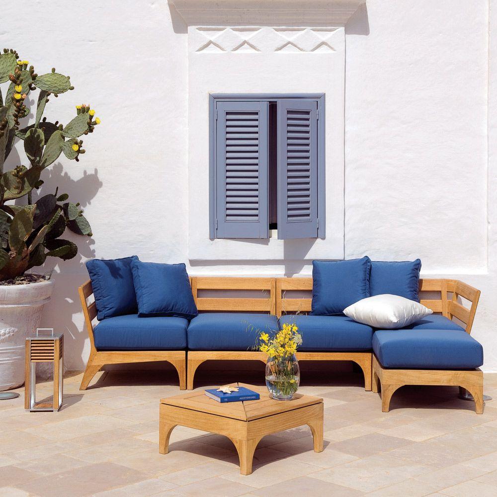 Ethimo Village Coffee Table Square | Garden sofa, Outdoor ...