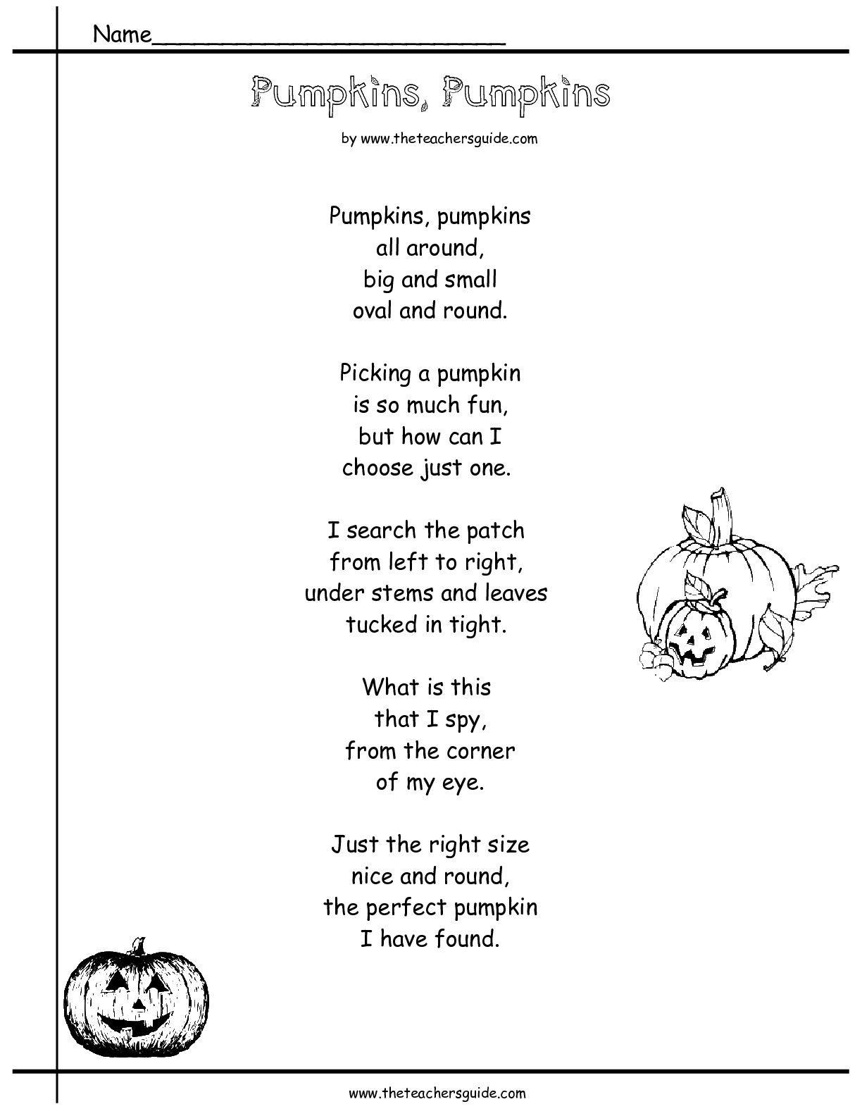 Pumpkinspumpkinspoem 001 001 Jpg 1 224 1 584 Pixels Poetry Comprehension Worksheets Poetry Comprehension Comprehension Worksheets