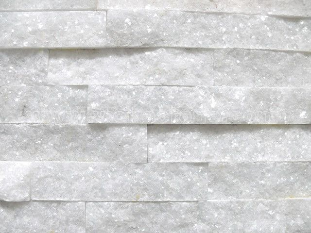 Snow White Quartz Stone Panels Wall Cladding Rectangle