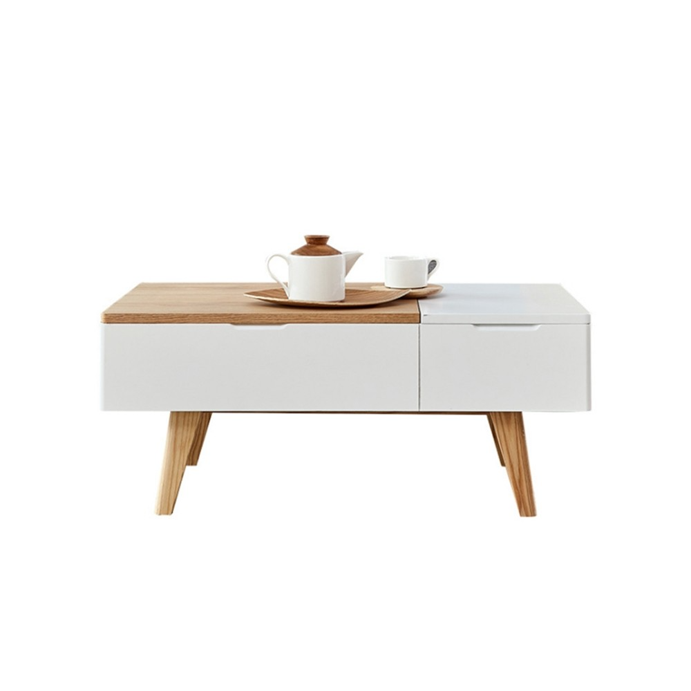 White Natural Rectangular Coffee Table With Drawer Lift Top Hidden Storage Accent Table In 2021 Coffee Table Rectangular Coffee Table Coffee Table With Drawers [ 1000 x 1000 Pixel ]