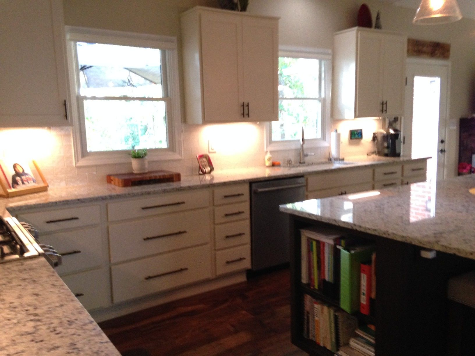 Homecrest Cabinets Arbor Maple Ivory Perimeter And Java Island Kitchen By Angela Raines At Our Galler Kitchen And Bath Showroom Homecrest Cabinets Kitchen Sale