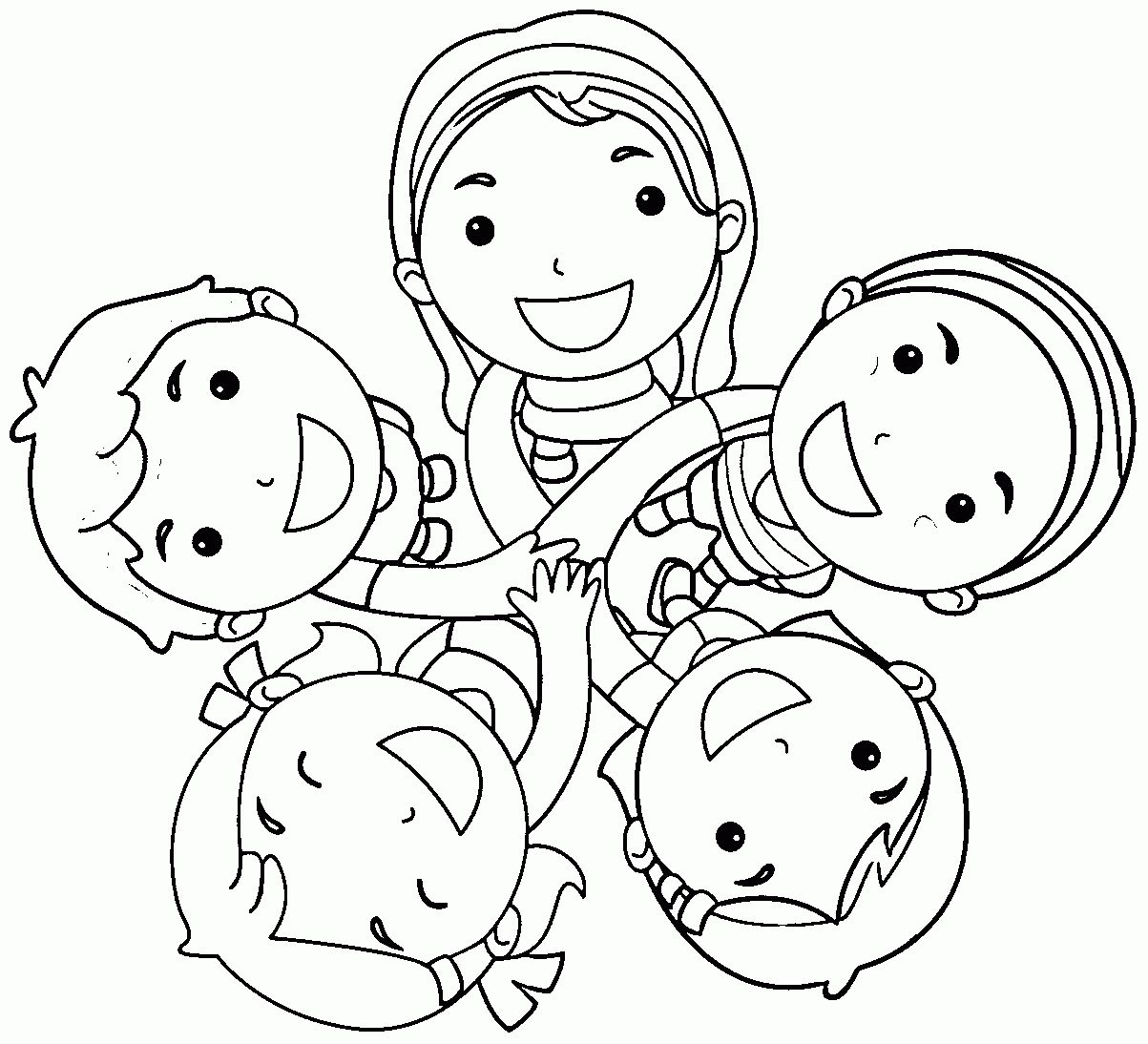 kids-friendship-coloring-page-1.gif (1203×1094 ...