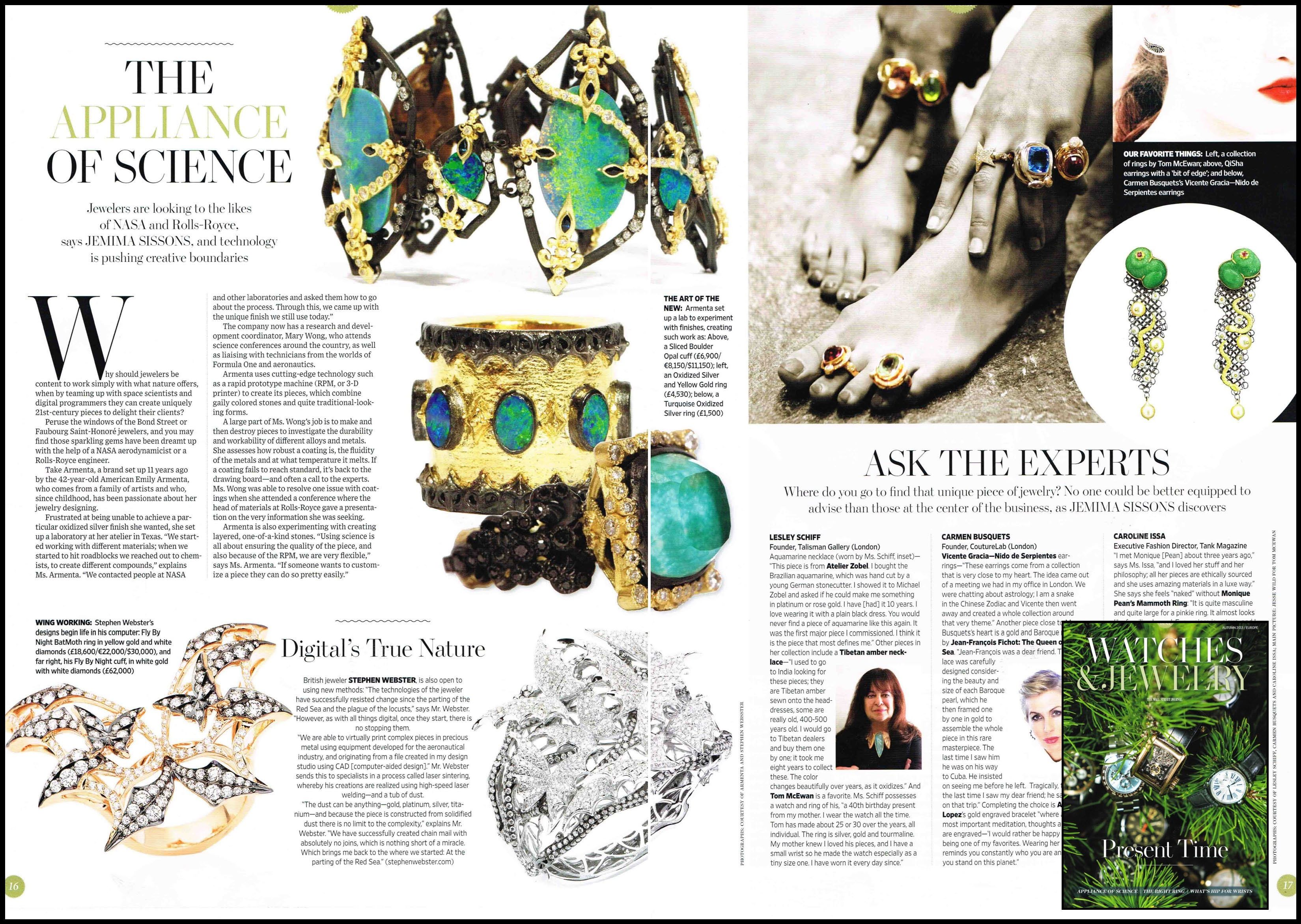 WSJ Europe Watch and Jewellery Autumn Issue 2013