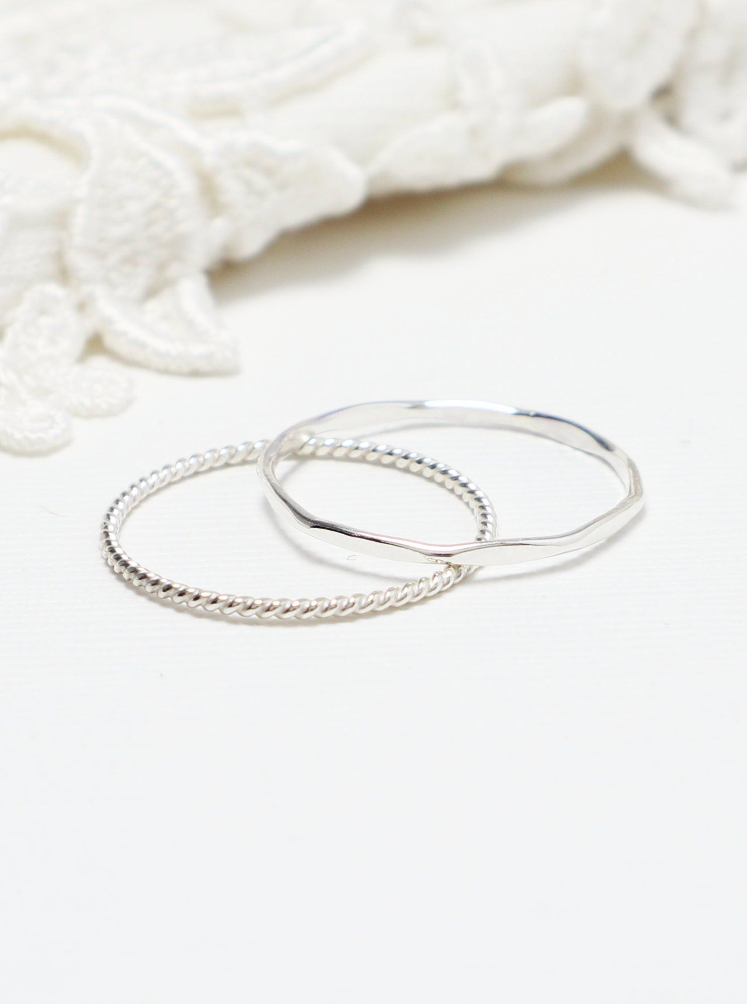 Twist Ring Rope Ring Silver Rings for Women* Stacking Ring* Sterling Silver Ring* Gift for Her* Delicate Ring* Dainty Ring* Simple Ring*