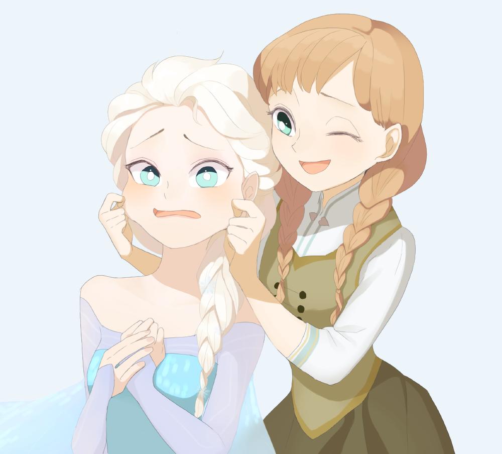 Картинки анны аниме из холодного сердца