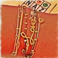 Naz Collection by Harika Ozkaya SOChic Trendy Friendship Neutral Macrame Color Bracelets