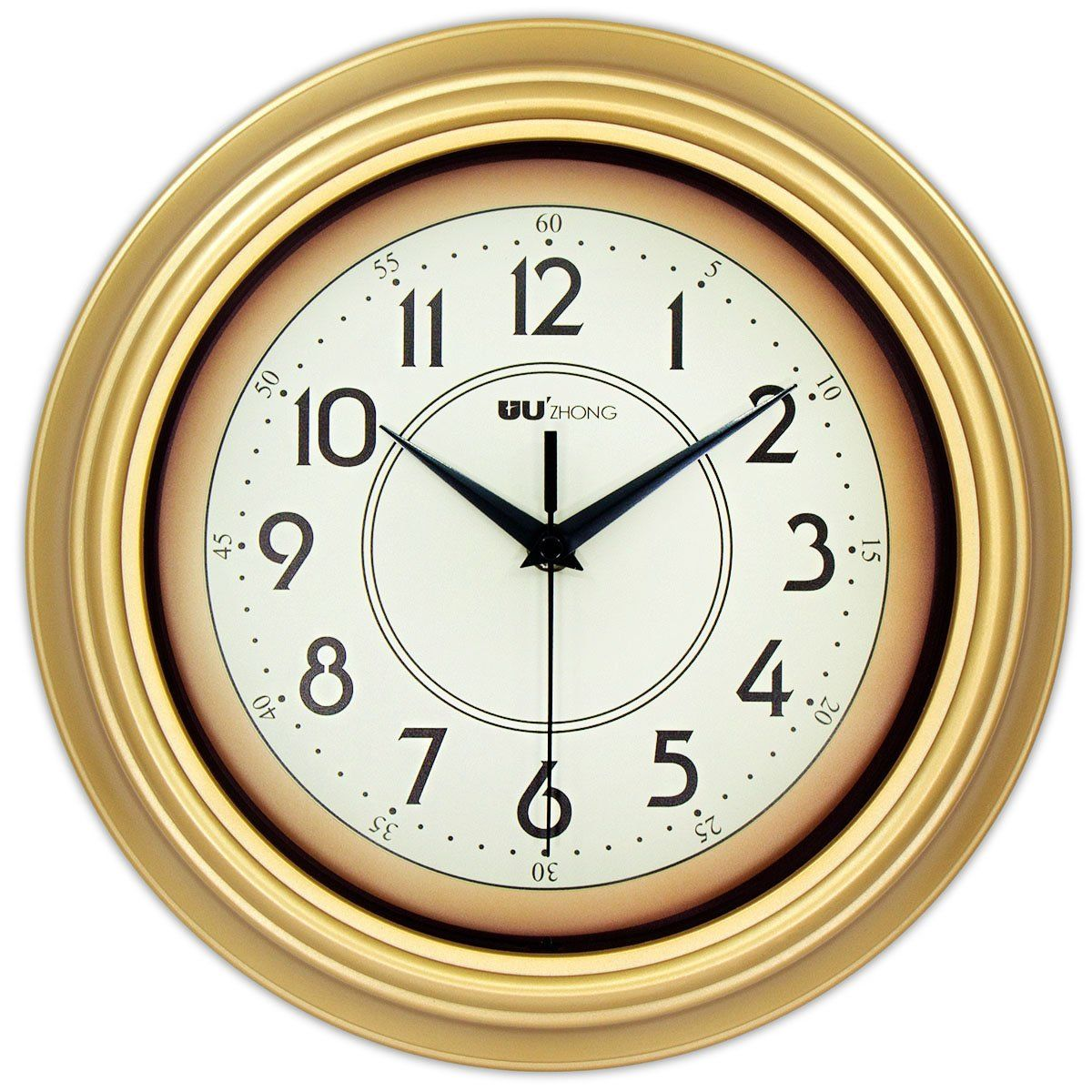 45min 12inch Golden Circle Of Decorated Dial Face Retro Wall Clock Silent Nonticking Round Home Decor Wall Clock Wi Retro Wall Clock Wall Clock Clock