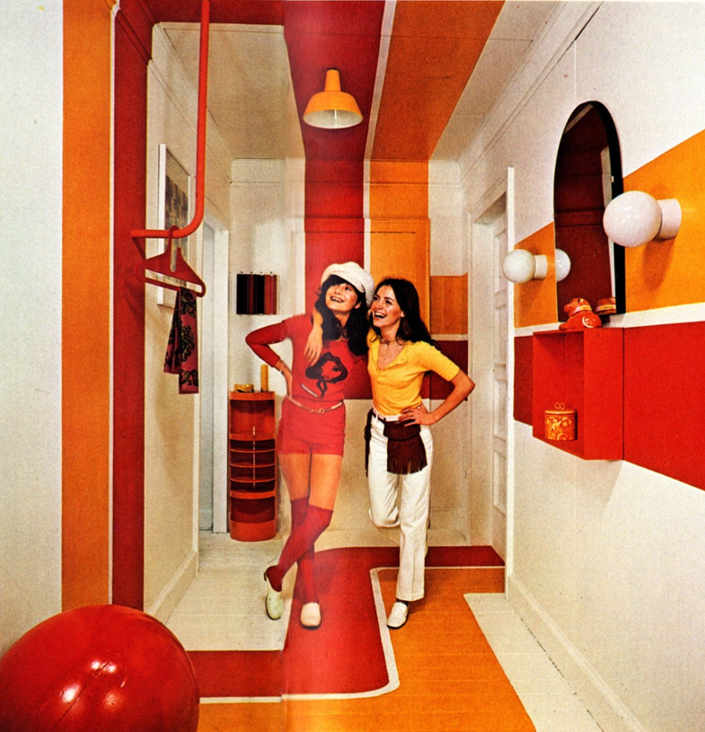 You were right, Inez. Orange and red stripes were the perfect choice for our apartment!
