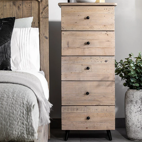 Chelwood Reclaimed Wood Tall Chest Of Drawers In 2020 Chest Of Drawers Furniture Bedroom Chest Of Drawers