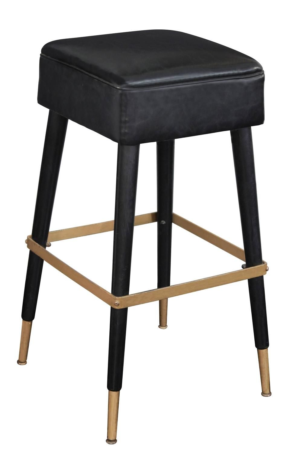 Set Of Four Chic Bar Stools With Brass Sabots And Footrests Luxury Bar Stools Bar Stools Bar Furniture For Sale