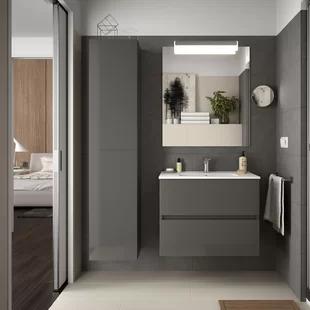 Metal And Wood Vanity Wayfair Co Uk In 2020 Wood Vanity Furniture Bathroom Mirror