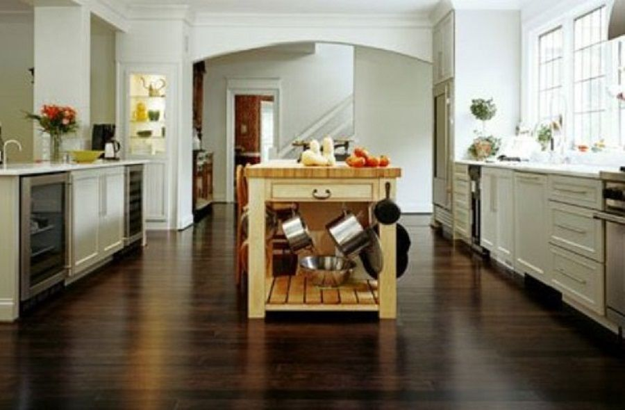 cool laminated flooring for kitchen with dark color - Laminate Kitchen Flooring
