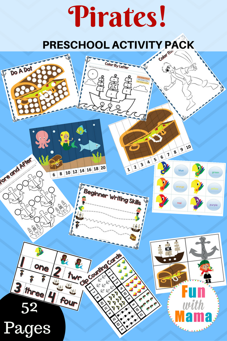 Pirate Theme Printable Preschool Pack | Free Printables | Pinterest ...