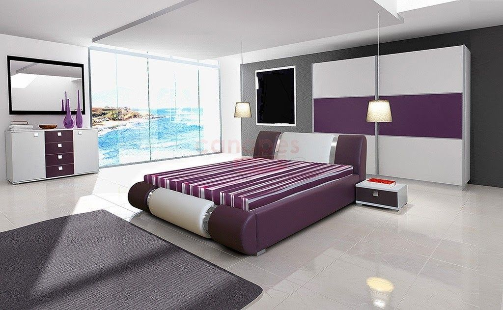 d co int rieur pourpre gris idees chambre des maitres chambre violet violet interieur imag. Black Bedroom Furniture Sets. Home Design Ideas
