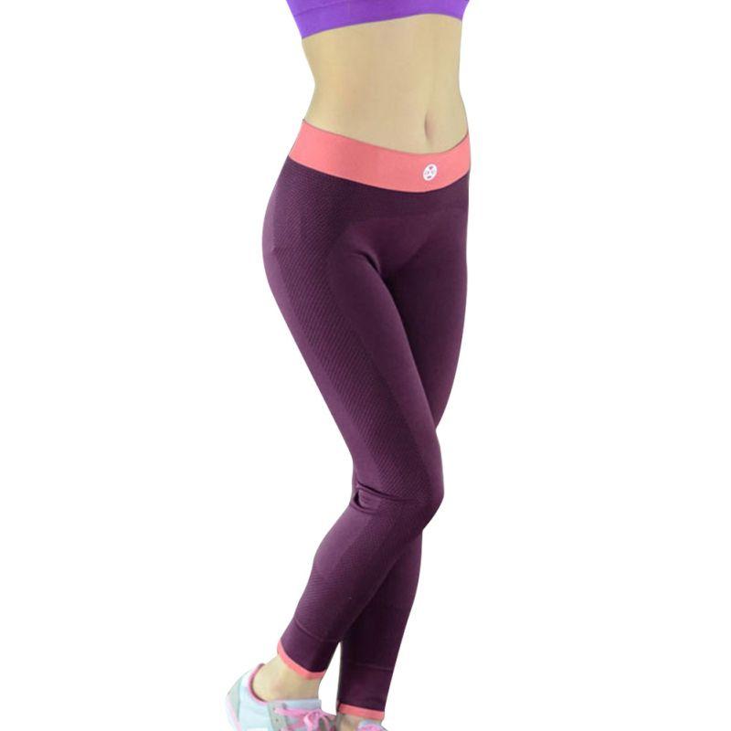 Lady Wanita Yoga Menjalankan Olahraga Celana Pinggang Tinggi Cropped Legging Kebugaran Celana Running Trousers Sport Outfits Womens Fashion Casual