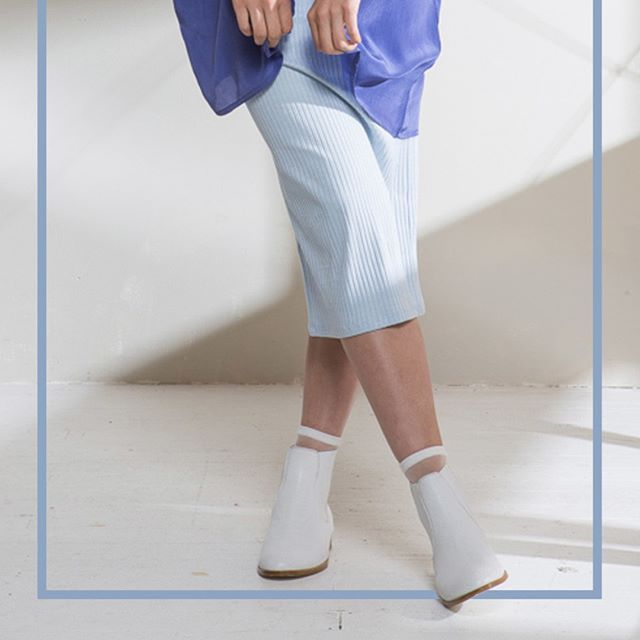 The #limedrop Blue Chalk Silk Kimono paired with the Long Beatrix Rib Skirt in Sky #fashion #melbourne #colour #inspo #blue #liveinfullcolour