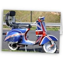 Union Jack Scooter Card