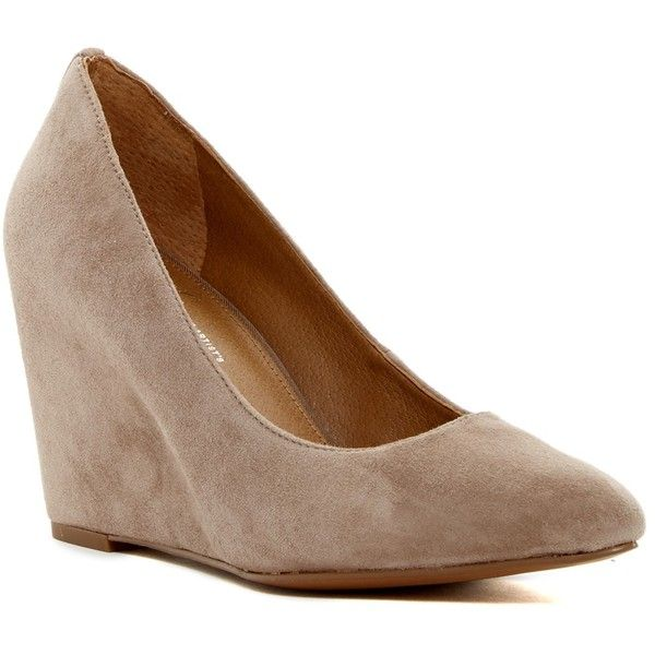 Franco Sarto Woodstock Wedge Heel (65 AUD) ❤ liked on Polyvore featuring  shoes,