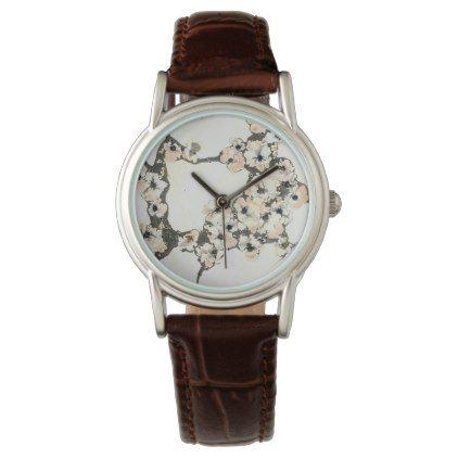 Reloj con flores rosas y blancas wristwatch - accessories accessory gift idea stylish unique custom