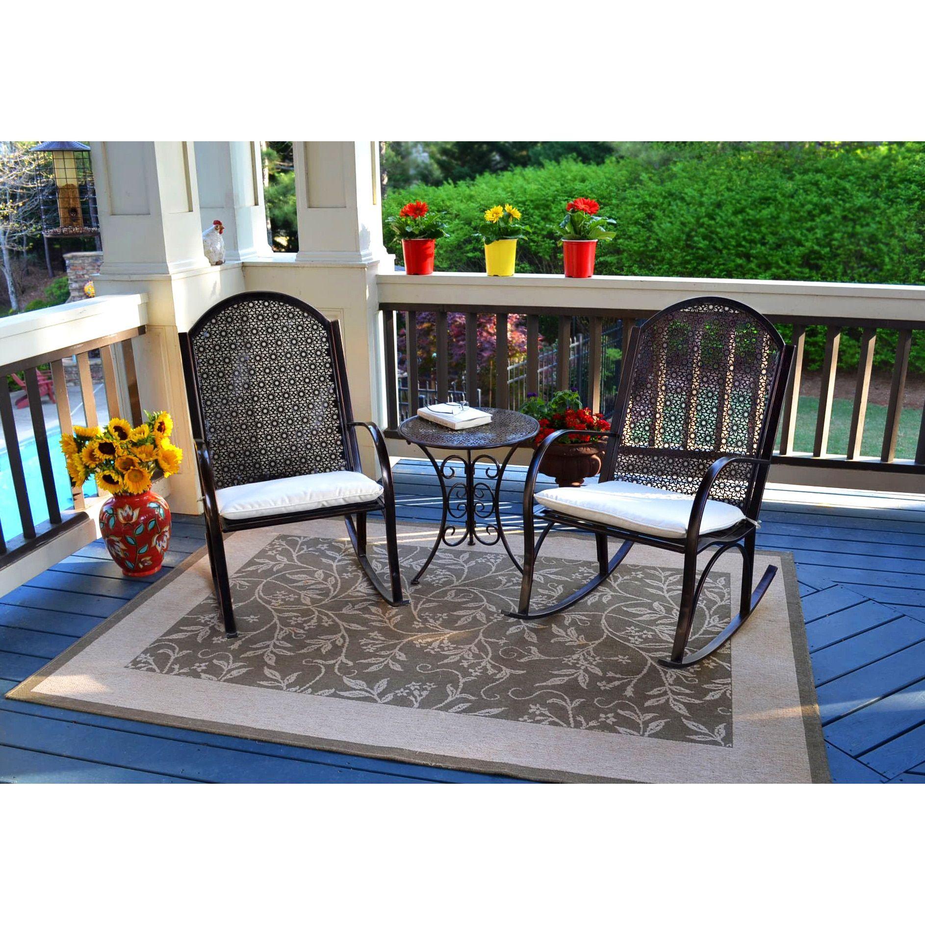 Tortuga outdoor garden rocking chair pc set patio pinterest