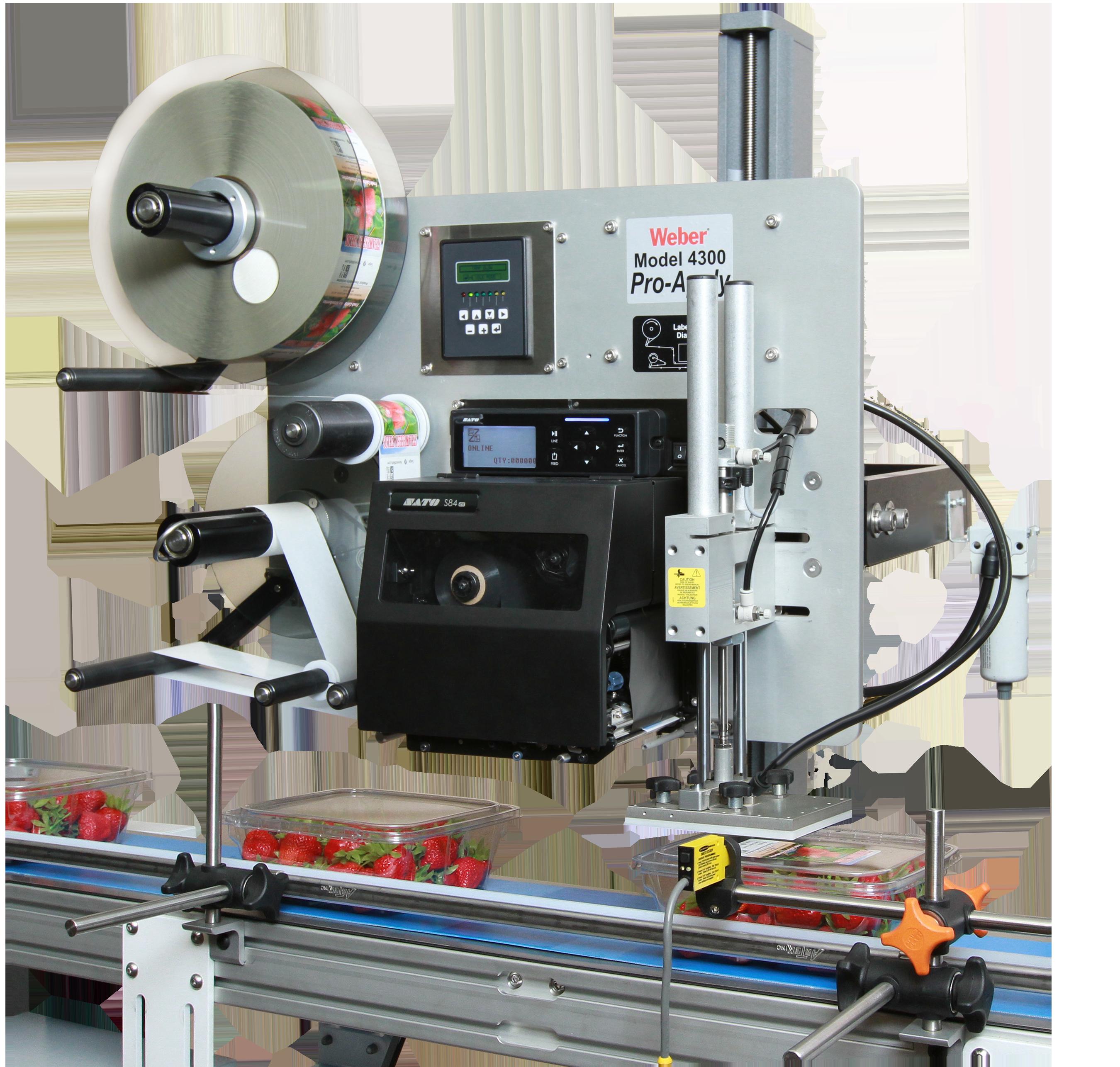 Weber's Model 4300 ProApply label printer applicator is