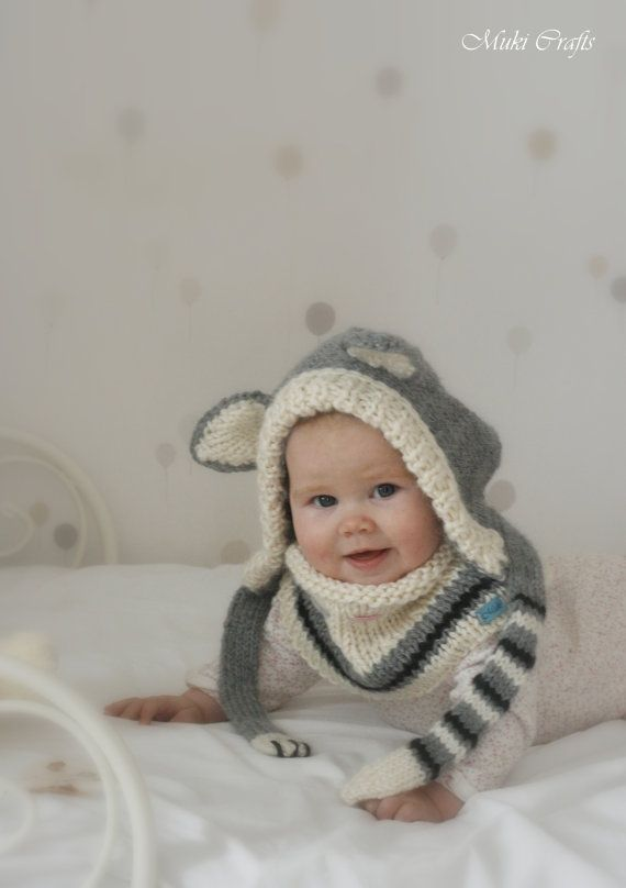 Knitting Pattern Cat Hood And Cowl Set Simba Baby Toddler Child