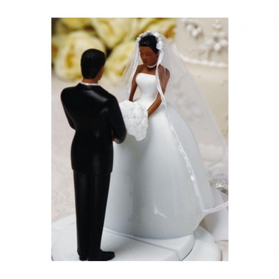 3698 Ty Wilson African American Bride Wedding Cake Figurine Model 489 TY802 Koyal