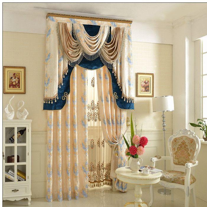 European Single Curtain Panel Curtains Living Room Window