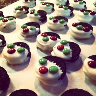 Christmas Baking Day: Chocolate Chip Cookies, Peanut Butter Blossoms, Dipped Oreos, Buckeyes. All recipes included on blogpost