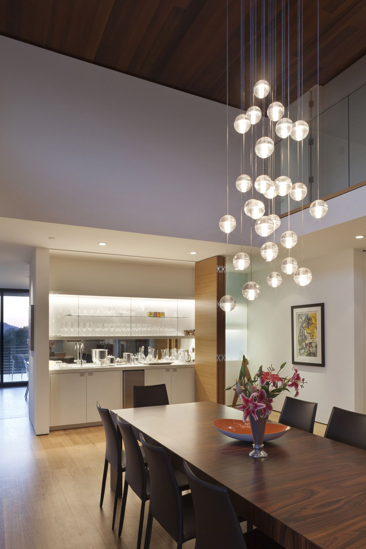 Contemporary Pendant Lighting For Dining Room Impressive Transforming One Storey Ranch Into Two Storey Open Floor Plan Design Inspiration