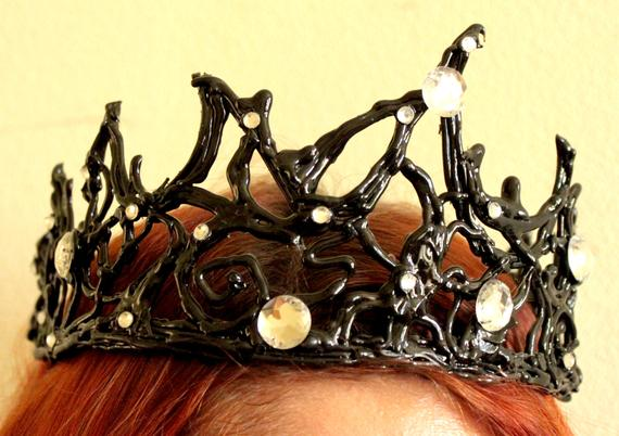 Halloween Black swan crown tiara party costume headpiece headband masquerade fancy cosplay ballet han gift bachelorette party bridal shower #crowntiara