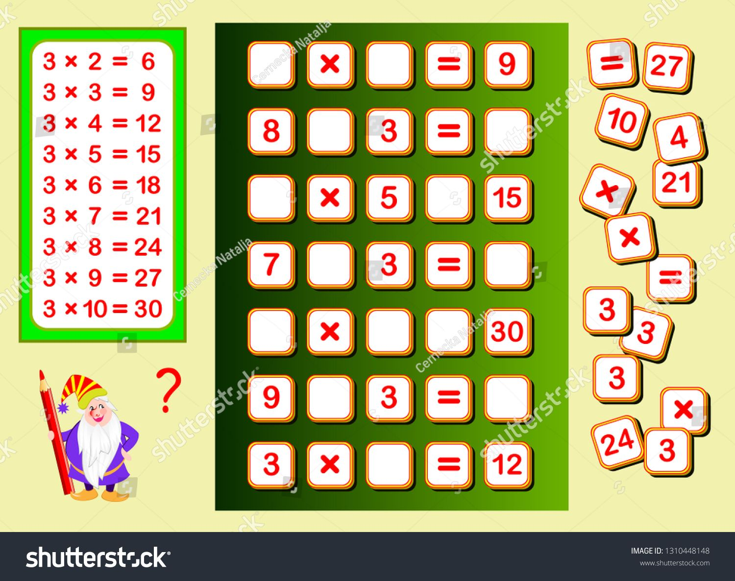 Multiplication Table By 3 For Kids Find Places For