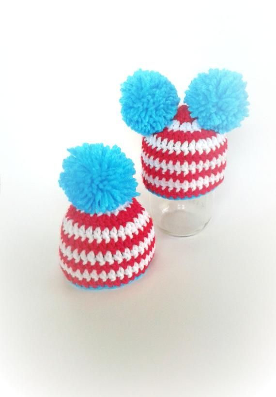 beb277c3c5b Thing 1 and Thing 2 hats