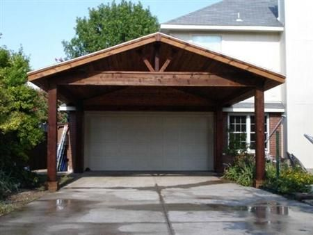 How To Build A Wooden Carport Off Your Existing Garage Carport Plans Carport Garage Wooden Carports